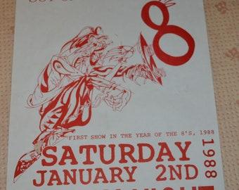 Rare 1988 The Crazy 8's Portland Oregon Original Concert Poster Vintage Punk Rock Black Flag Dead Kennedys Minor Threat