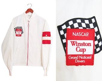 vintage jacket / NASCAR jacket / racing jacket / 1970s NASCAR Winston Cup racing jacket Large
