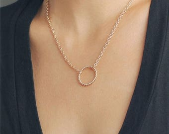 ON SALE Delicate simple everyday open circle necklace