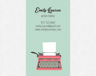 writer editor blogger business cards - thick - color both sides - FREE UPS ground shipping