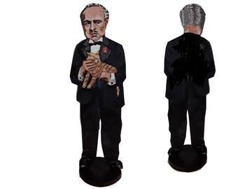 Marlon Brando Godfather 2D Art Figurine