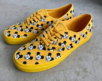 Custom Hand Painted Shoes - Mickey Mouse All Over