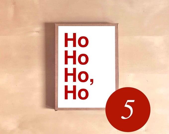 Funny Christmas Card Set - Funny Christmas Cards - Boxed Christmas Cards - Funny Christmas Gift - Ho Ho Ho, Ho