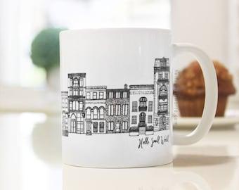 NYC Architecture Mug by Hello Small World, Coffee Cup, Tea, Mug, New York Mug, Architect Gift Mug