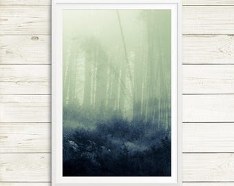 dreamy forest print, forest print set, forest photography, abstract forest art, forest triptych, vertical abstract art, fine art photo print
