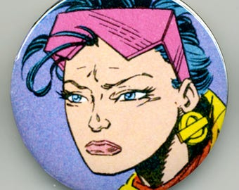 X-Men Comic Magnet or Pinback Buttons: Jubilee, Rogue, Cyclops and Apocalypse