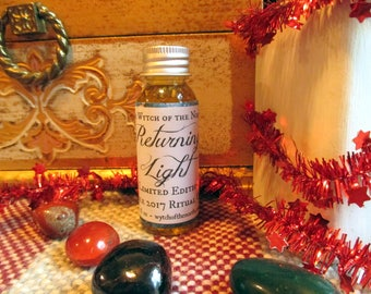 Returning Light - Yule 2017 Limited Edition Ritual Oil - Winter Solstice, celebration, Yule ritual - 100% Natural