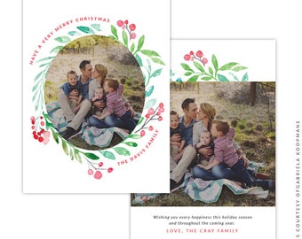 Christmas 5x7 Photo Card - Instant download - e1515