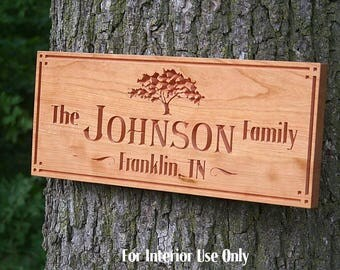 Custom Cabin Sign, Sign For Lake House, Family Name Sign, Welcome To The Lake Sign, Cabin Sign, Wooden Last Name, Benchmark Signs, Cherry TG