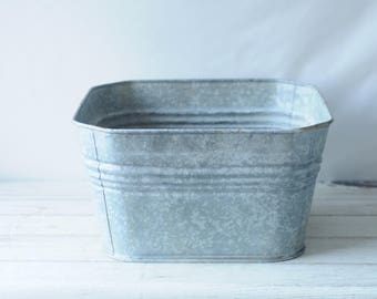 large vintage wheeling galvanized wash tub large square wheeling wash tub 2