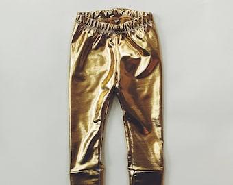GOLD SPANDEX Leggings - Baby & Toddler Leggings