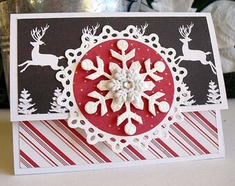 Christmas Reindeer SNOWFLAKE Gift Card Holder