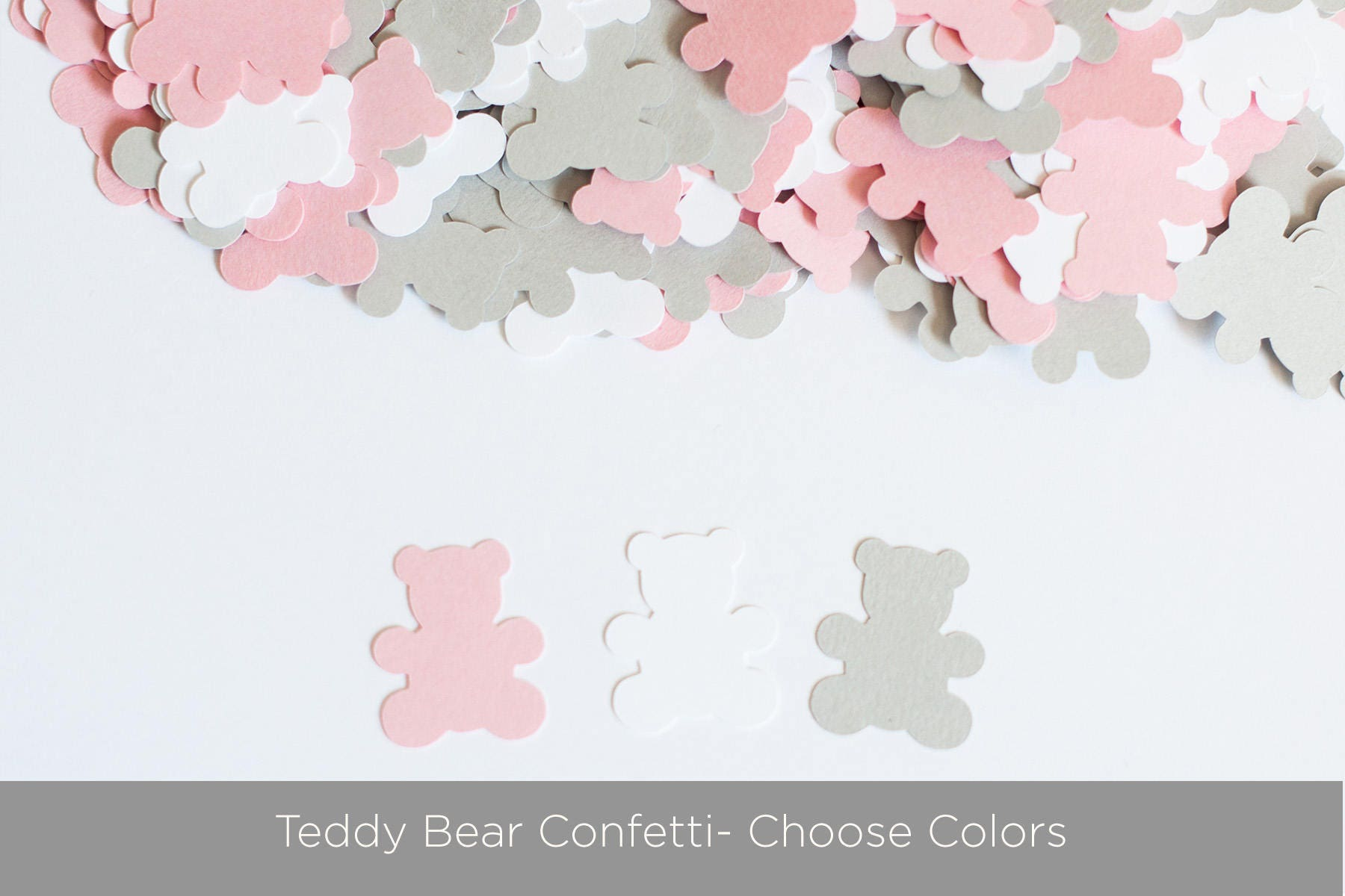 Teddy bear confetti teddy bear baby shower decor from for Baby confetti decoration
