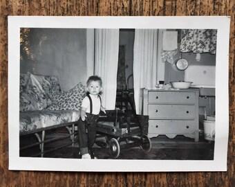 Original Vintage Photograph Little Buddy's Bedroom | 1948