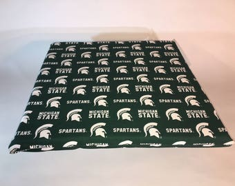 Michigan State Seat Cushion-Michigan State Spartans Stadium Seat-Bleacher Cushion-Stadium Cushion