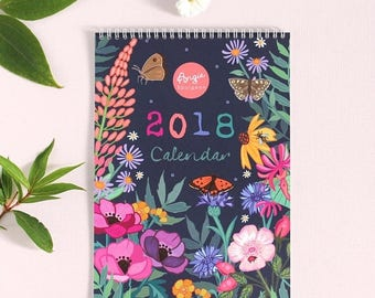 ON SALE 2018 Wall Calendar - 2018 Family Calendar - Planner - A4 sized - 297mm x 210mm - gift for her - gift for mum
