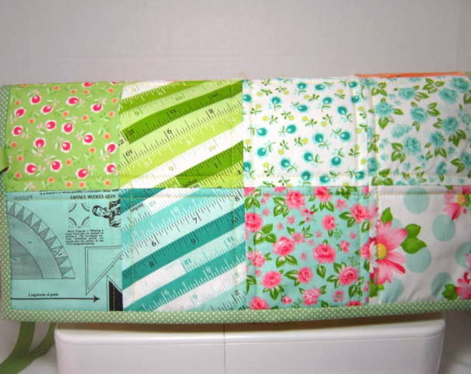 Petite Patchwork Quilted Small Sewing Machine Dust Cover