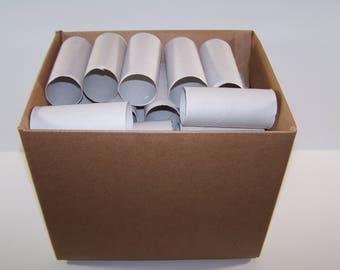 50 Empty Toilet Paper Rolls Clean White