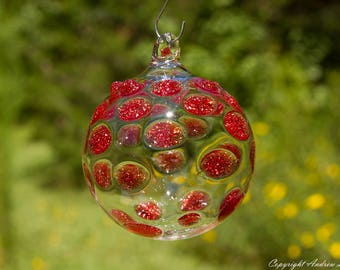OOAK Hand blown Borosilicate Glass Christmas ornament O22