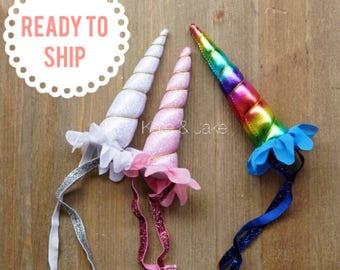 SALE! Unicorn headband, unicorn horn, unicorn favor head band for unicorn birthday party unicorn head piece