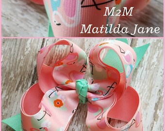 M2M Matilda Jane Flamingo Swimline Bow