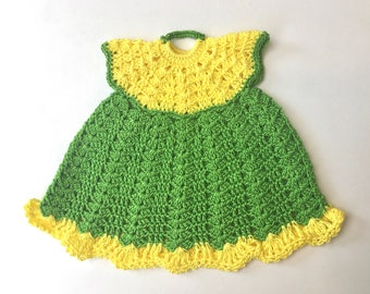 Darling 1950's Little Crochet Dress Potholder-Never Used