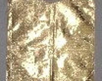 gold lame bib