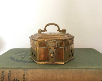 Vintage India Brass Cricket Box