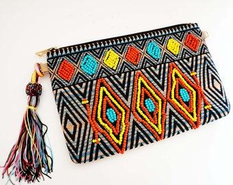 Aztec Tribal Clutch Purse