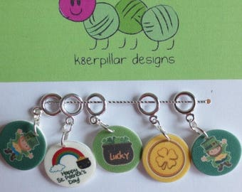 CLEARANCE Snagless Stitch Markers - Luck of the Irish