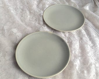 Wedding Sale Dove Grey Bread and Butter Plates Vintage Ballerina Universal China