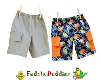 Boys Cargo Shorts Pattern. Boys Summer Pants. Childs Pants Sewing Pattern. Toddler Shorts Pattern. pdf Sewing Pattern for Boys Casey