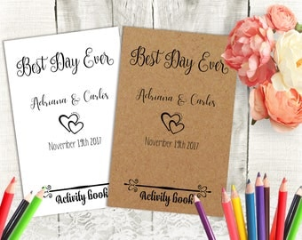 Personalized Wedding Activity Book for Kids Printable Wedding Kid's Activity and Coloring Book DIY Wedding Favors for Children Party Favors