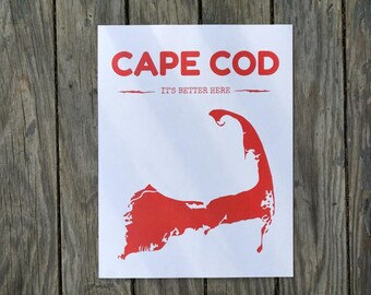 Cape Cod Map DIGITAL Print / Cape Cod Print / Beach Decor / Printable Art Beach Sign / Wall Art Print / Instant DOWNLOAD Home Decor