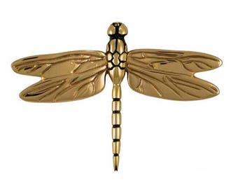 Brass Dragonfly Door Knocker - Brass Door Knocker - Holiday Gift