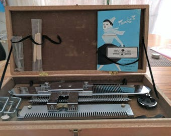Vintage TeenKnit Knitting Machine, Complete in the Case