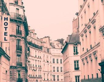 Extra large wall art, Paris wall art, wall art canvas, Paris photography, large wall art, Paris print, canvas art, pink wall art, girly