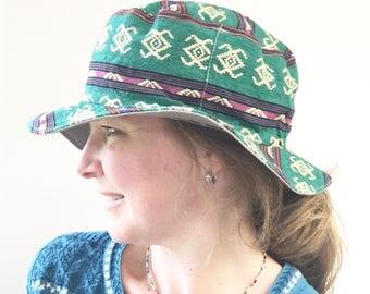 Bucket Hat, Handmade Hats, Beach Hat, Women's Bucket Hat, Wide Brim Hat, Shade Hat, Women's Summer Hat, Summer Shade Hat, Sunscreen Hat
