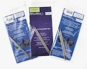 """Hiya Hiya Steel Interchangeable Needle Tips, Hiya Hiya Steel Tips, 4"""" Tips, 5"""" Tips, Knitting Needles, Knitting Gift, Birthday Gift"""