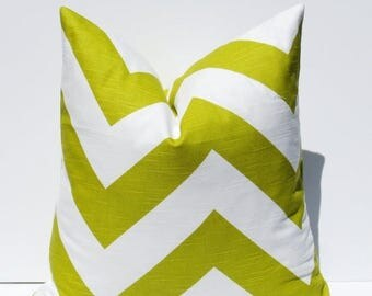 15% Off Sale SALE Pillow Cover Green Pillow Chevron Pillow SET Decorative Pillow Accent Pillow Throw Pillow  Cushion  Accent Housewares.Pill