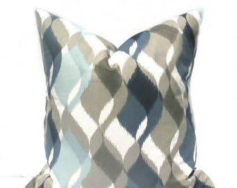 15% Off Sale Blue Pillow Blue Pillow cover Blue Tan Pillow Decorative Pillow Throw Pillow cover Accent Pillow Cushion Cover  Toss Pillow