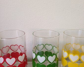 Vintage lemonade glass 3 x