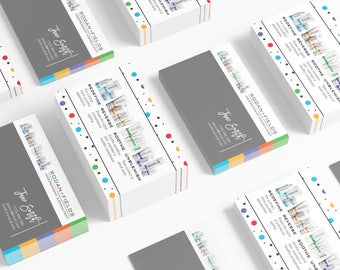 Rodan and Fields Business Cards Download - Polka Dot Party Photo Business Cards Personal Printable Custom Personalized