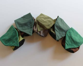 Earthy Green Fairy Leaf - Rock Climbing Chalk Bag