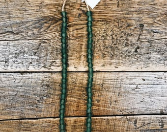 African Made Bead Necklace- Emeral Green