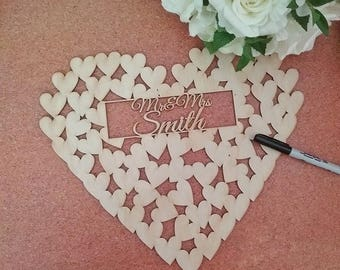wedding guest book personalised, guestbook alternative, personalised wedding guest book, wedding guest book alternative, wedding hearts