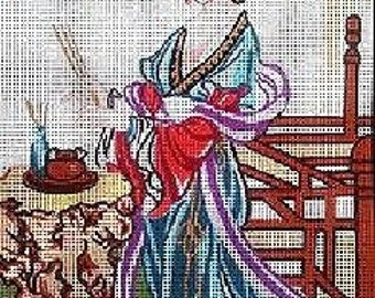 Oriental Geisha Tapestry Canvas Gobelin