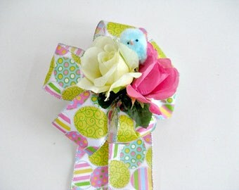 Easter accessories etsy easter bow bow for easter baskets gift wrap bow easter egg bow negle Choice Image