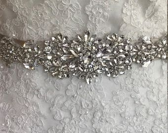 WEDDING-Accessories-Wedding Sash-Wedding Belt-Bridal Belt-Bridal Sash-Bridesmaid-Applique-Rhinestones-blush-Crystal Sash-belt-crystal belt