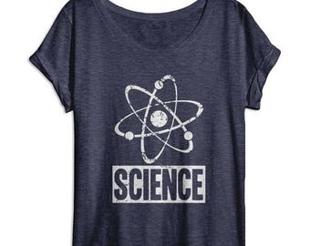SUNDAY SALE Science Shirt - Nerd Shirt - Funny Women's Shirts - Womens Dolman - Oversized Slouchy Tee - Tri Blend